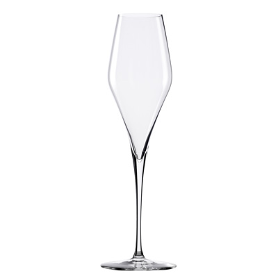 mouth blown lead free champagne flute